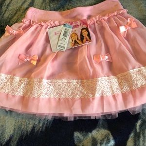Tulle skirt with bows